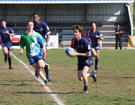 U17s rugby game in France